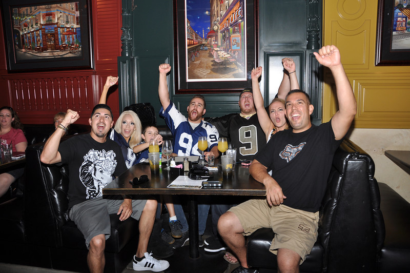 Bourbon Street NFL Season Opener with Former Rams Mike Lansford, Leroy Irvin and Swipe4TheKids Giving Back - Bourbon Street Bar & Grill - Fullerton, CA